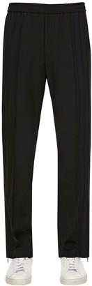 Valentino 25cm Wool & Mohair Pants W/ Drawstring