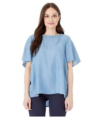 Tommy Hilfiger Adaptive Chambray Blouse