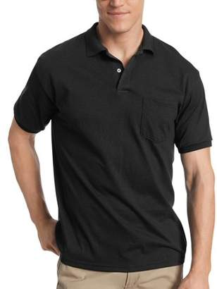 Hanes Men's EcoSmart Short Sleeve Jersey Polo Shirt with Pocket