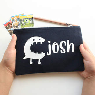 Equipment SoS15 Little Monsters Personalised Pencil Case For Boys