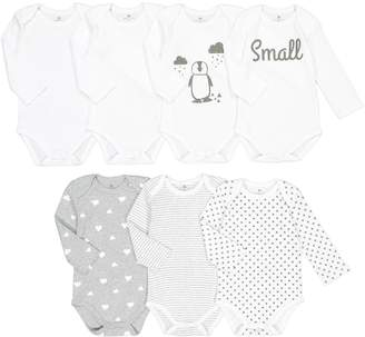 La Redoute COLLECTIONS Pack of 7 Bodysuits, Birth-3 Years