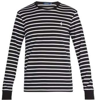 Polo Ralph Lauren Striped Long Sleeved Cotton T Shirt - Mens - Black Multi