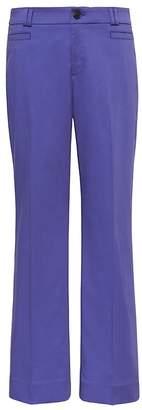 Banana Republic Petite Logan Trouser-Fit Cropped Textured Sateen Pant
