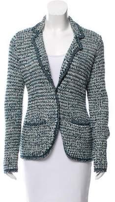 Oscar de la Renta Wool & Silk-Blend Woven Blazer