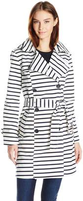 Tommy Hilfiger Women's Striped Trench