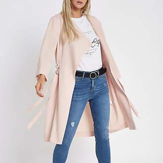 River Island Womens Petite peach D-ring duster coat
