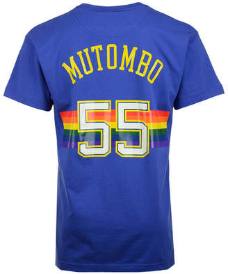 Mitchell & Ness Men Dikembe Mutombo Denver Nuggets Hardwood Classic Player T-Shirt