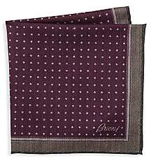Brioni Men's Fantasy Micro-Print Pocket Square