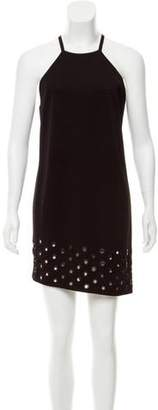 Anthony Vaccarello Eyelet-Accented Mini Dress