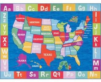 Eric Carle Home Dynamix Usa Map Area Rug