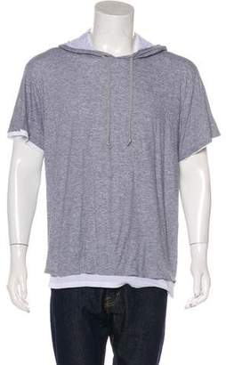 Vince Hooded Layered T-Shirt