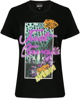 Just Cavalli neon sign T-shirt