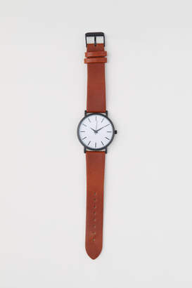 H&M Watch with Leather Band - Beige