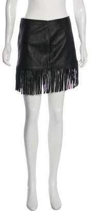 Cleobella Leather Mini Skirt