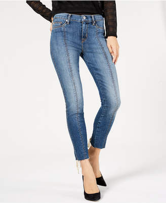 Hudson Jeans Raw-Hem Skinny Jeans