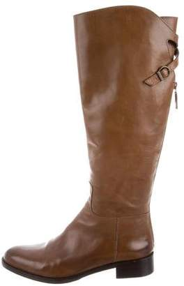 Bettye Muller Leather Knee-High Boots