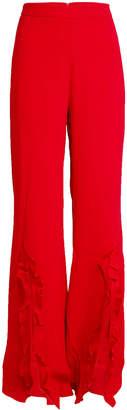 Saloni Crepe Pants with Ruffles