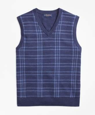 Brooks Brothers Merino Wool Plaid Vest