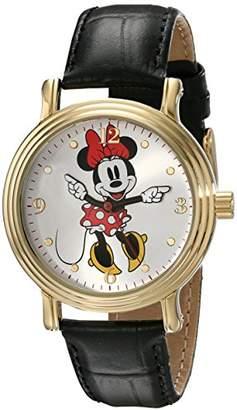 Disney Women's W001879 Minnie Mouse Analog Display Analog Quartz Black Watch