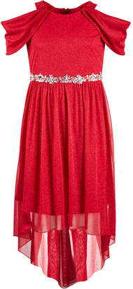 Sequin Hearts Big Girls Embellished Glitter Maxi Dress