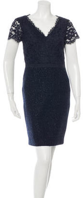 Trina Turk Lace & Bouclé Sheath Dress $100 thestylecure.com