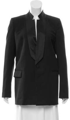 Givenchy Silk-Trimmed Wool Jacket