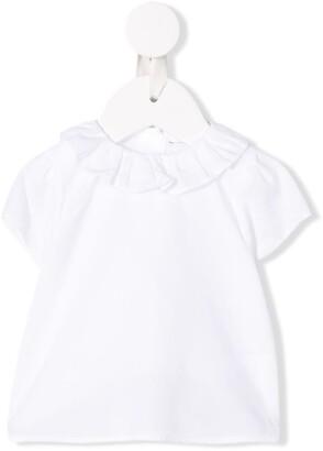 Knot Pierrot collar blouse