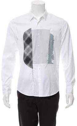 Solid Homme Patterned Dress Shirt