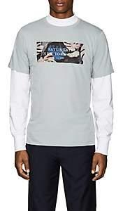 Saturdays NYC Men's Monstera Cotton Jersey T-Shirt - Blue