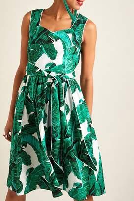 Yumi Palm Print Dress