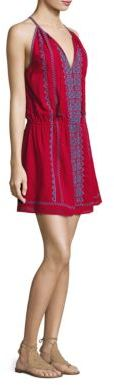 Joie Picard Embroidered Cotton Gauze Dress $298 thestylecure.com