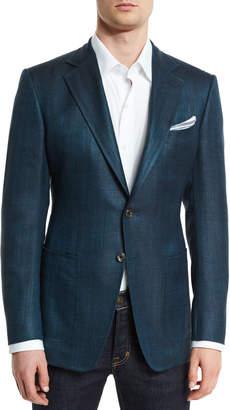 Tom Ford O'Connor Base Rustic Herringbone Sport Jacket, Teal