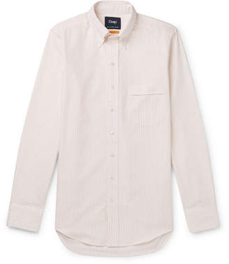 Drakes Drake's Button-Down Collar Striped Cotton Shirt