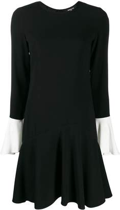 Paule Ka contrast cuff dress