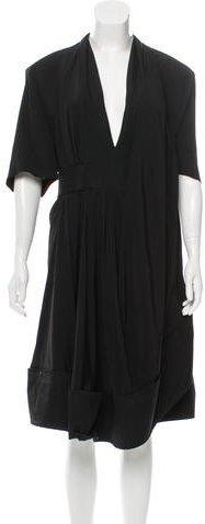 Balenciaga Balenciaga Midi Drape-Accented Dress