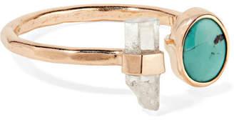 Melissa Joy Manning 14-karat Gold, Turquoise And Aquamarine Ring