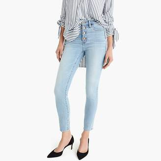 "J.Crew Petite 9"" high-rise toothpick jean in Leddy wash with button fly"