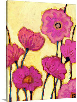 Canvas On Demand 'Flowers for Coralyn' by Jennifer Lommers Painting Print on Canvas