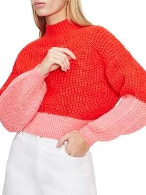 Miss Selfridge Oversized Colorblock Sweater