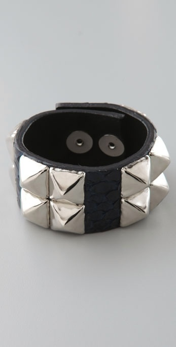 Made Her Think Double Row of Studs Cuff