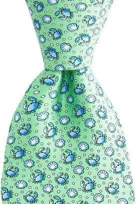 Vineyard Vines Crab & Scallop Shell Printed Tie