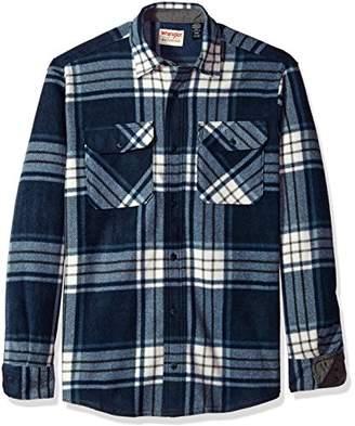 Wrangler Authentics Men's Long Sleeve Plaid Fleece Shirt Jacket