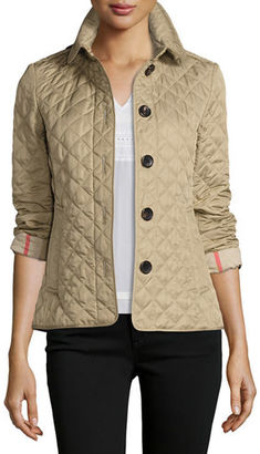 Burberry Ashurst Classic Modern Quilted Jacket $595 thestylecure.com