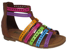 Mia Kaylee Multicoloured T-Strap Sandals