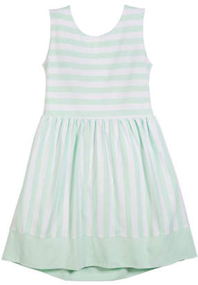 Kate Spade Kali Striped Cutout-Back Dress, Size 7-14