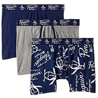 Original Penguin Men's Fashion Logo 3 Pack Boxer Brief