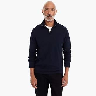 J.Crew Double-knit half-zip pullover