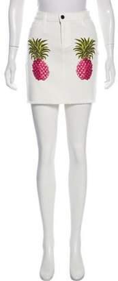 Giamba 2017 Denim Skirt White 2017 Denim Skirt