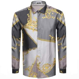 Versace Long Sleeved Shirt Grey