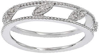 JCPenney FINE JEWELRY Personally Stackable Diamond-Accent Sterling Silver Stackable Ring Jacket